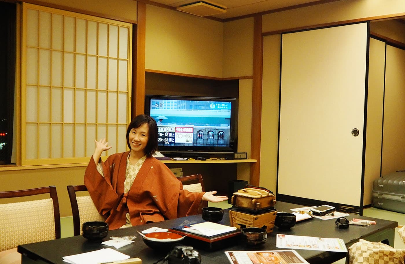 happy after japanese onsen at Yumotokan • The Petite Wanderess
