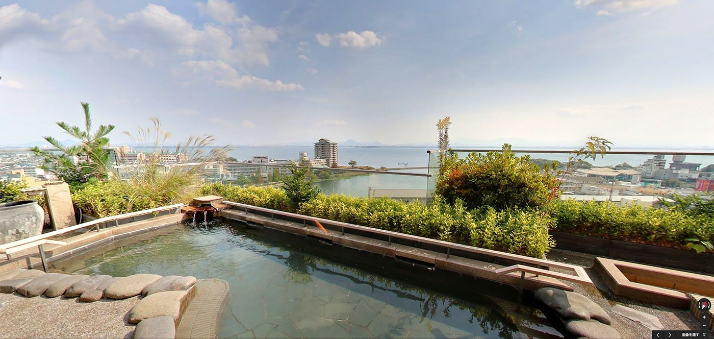 japanese onsen over Lake Biwa • The Petite Wanderess