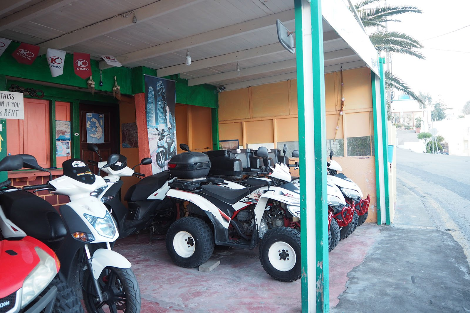 ATVs for rent • Santorini solo travel