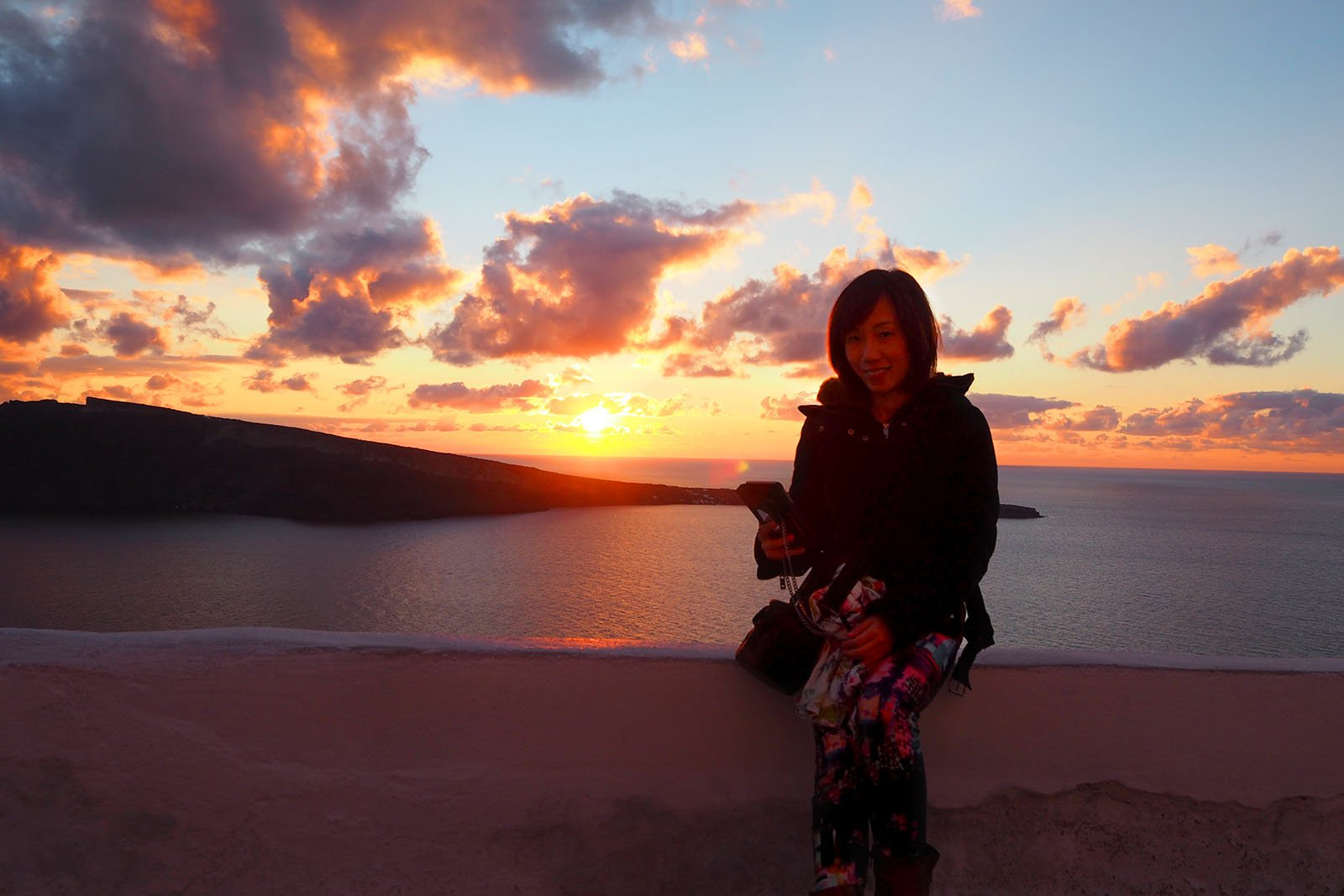 Sunset, Oia, Santorini • The Petite Wanderess