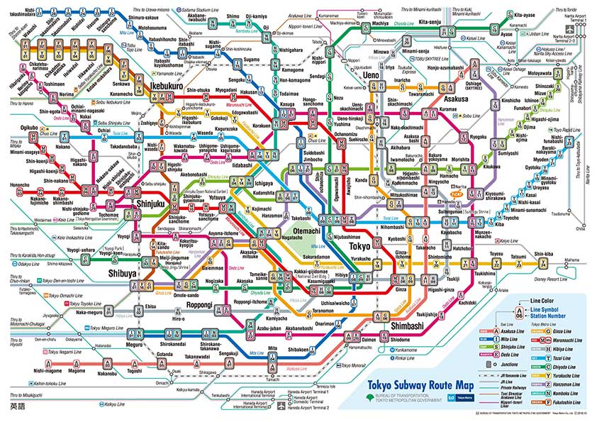Tokyo subway map • Reasons Tokyo is Perfect for Solo Travel