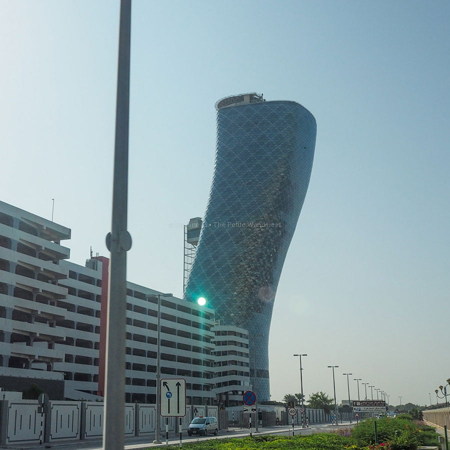 jiggly building in Abu Dhabi • First impressions visiting Abu Dhabi