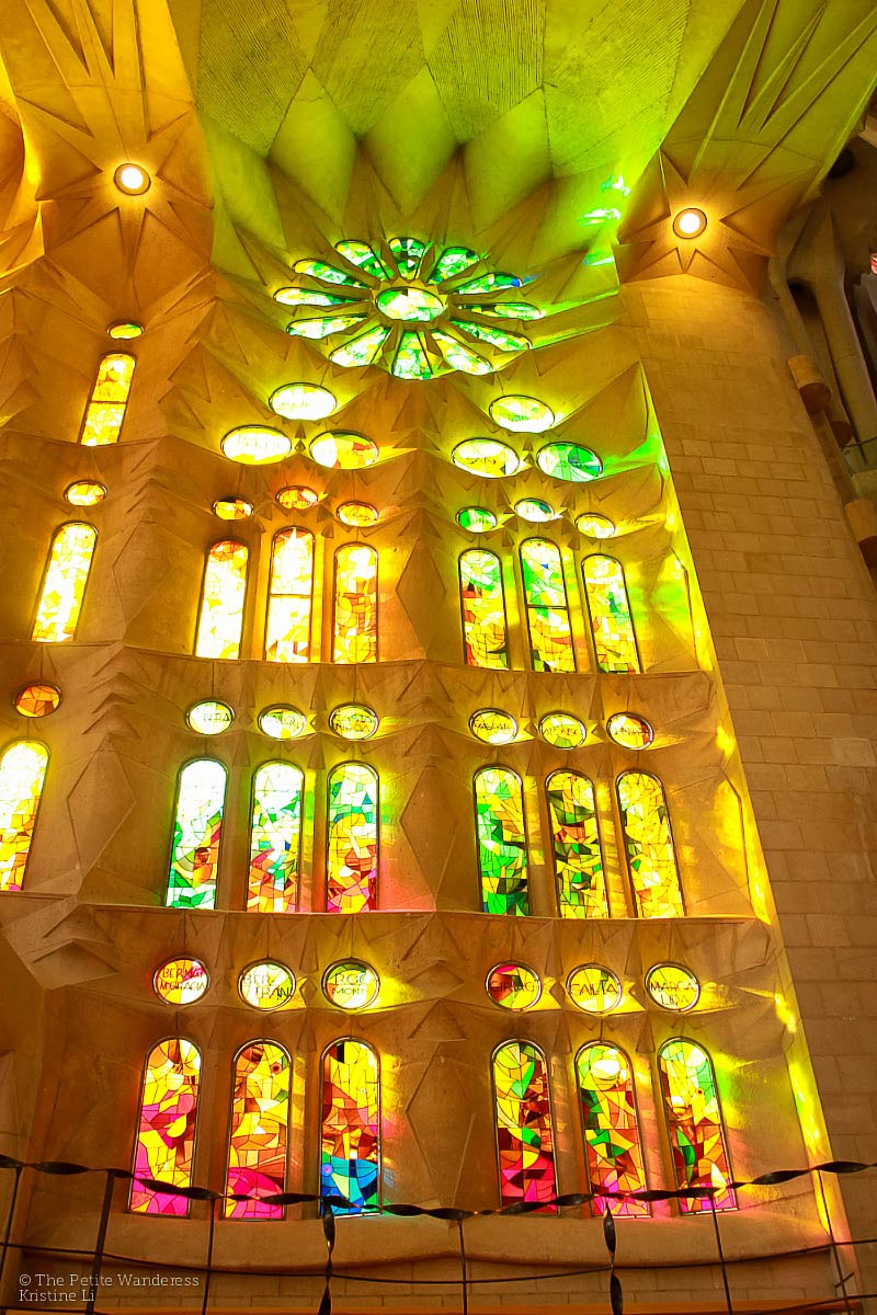 inside Sagrada Familia, Barcelona, Spain
