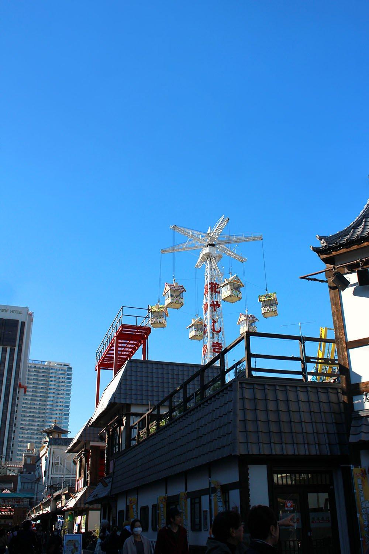 gingerbread houses at Hanayashiki Amusement Park, Tokyo