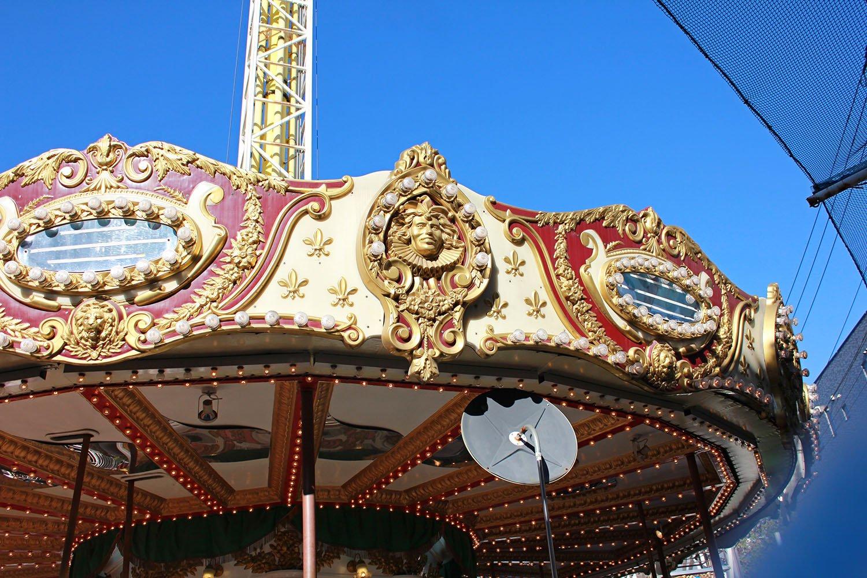 carousel details at Hanayashiki Amusement Park Tokyo