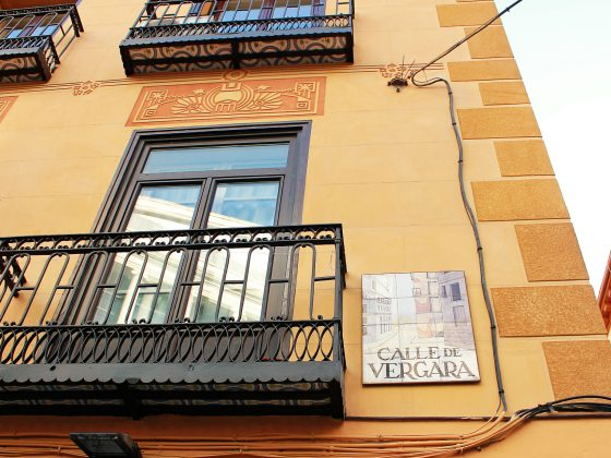 Madrid street sign: Calle Vergara • The Petite Wanderess
