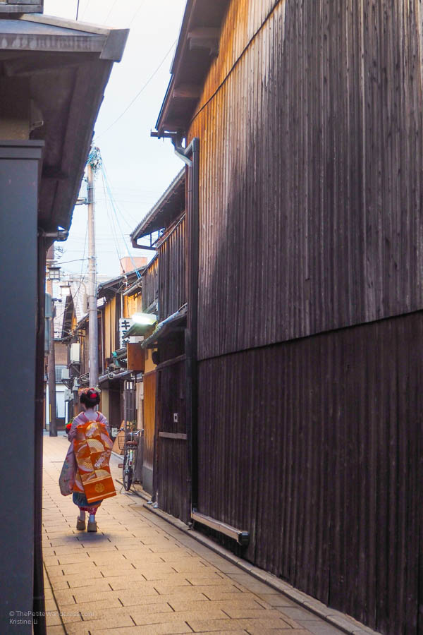 spotting a maiko at Gion district | Where to See Geisha in Kyoto • The Petite Wanderess