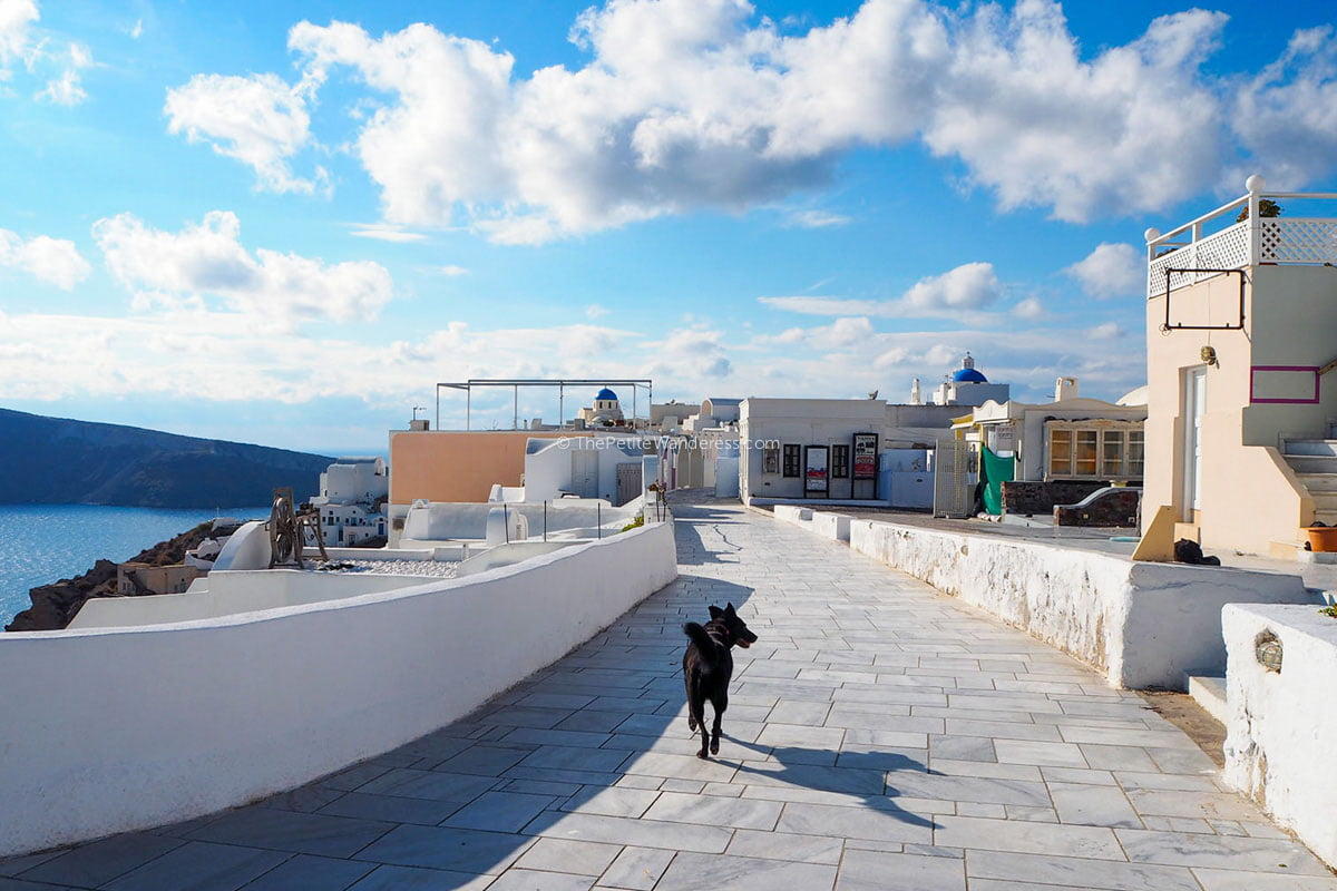 empty Oia | Santorini in January – Solo Travel Guide • The Petite Wanderess