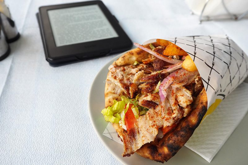 pork gyro | Santorini in January during winter – Solo Travel Guide • The Petite Wanderess