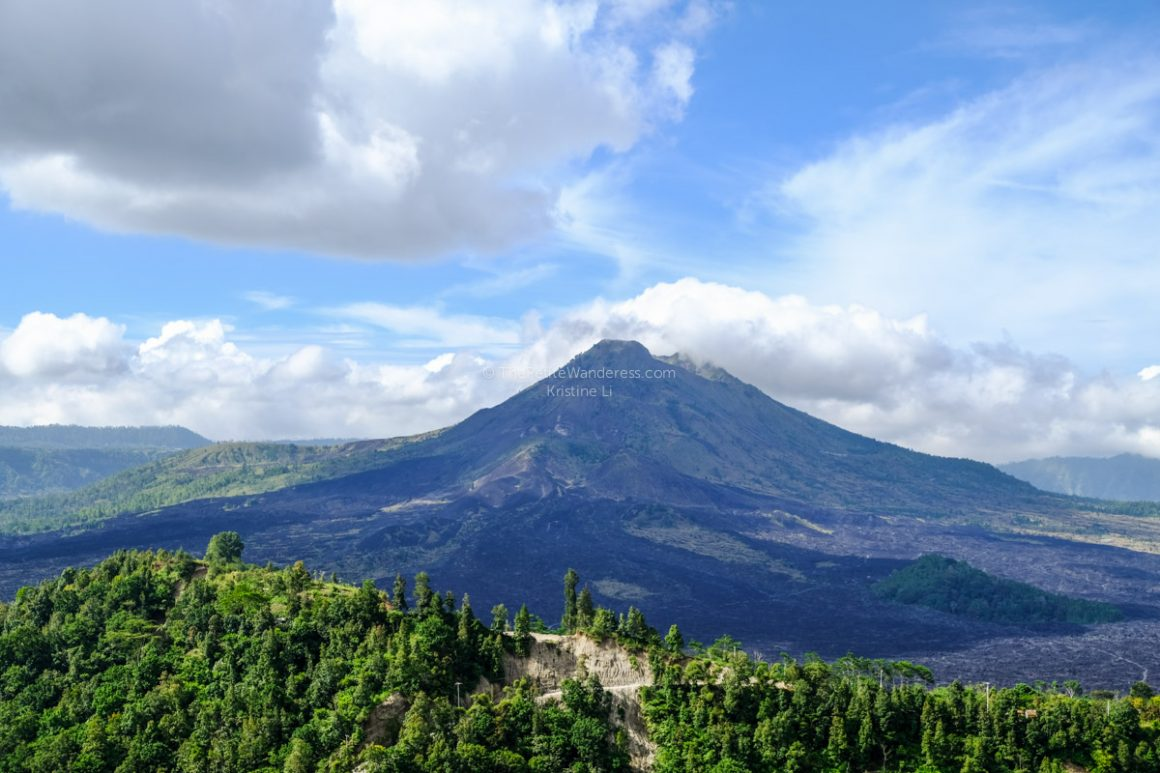 Mt Batur from far | Mt Batur trekking review • The Petite Wanderess