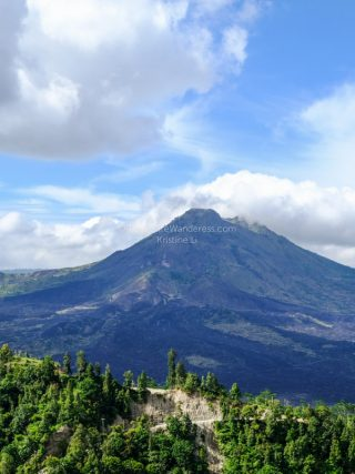 Mt Batur from far | Mt Batur trekking review • The Petite Wanderess