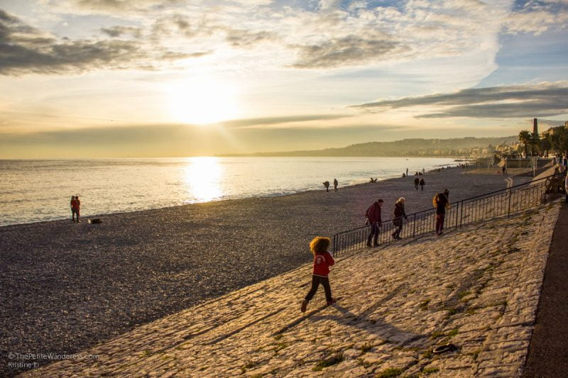 sunset at Promenade des Anglais | Things to Do in Nice • The Petite Wanderess
