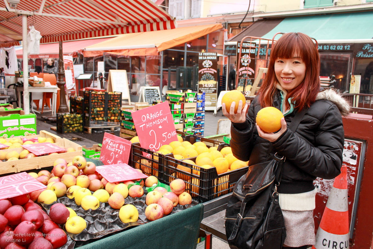 huge oranges at market in Nice | Things to Do in Nice • The Petite Wanderess