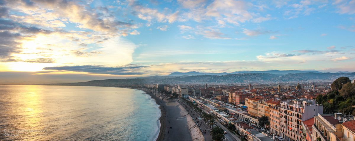 sunset from Castle Hill   Things to Do in Nice • The Petite Wanderess