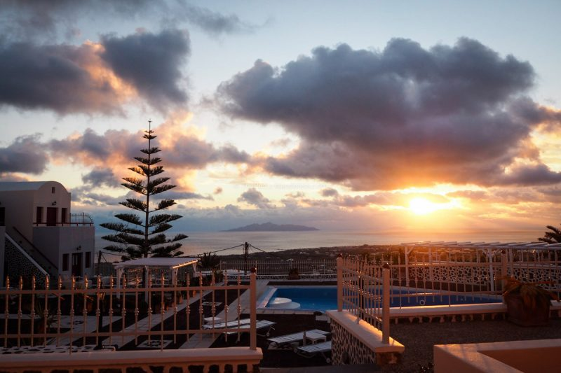 sunrise at hotel | Review: Dream Island Hotel, Fira, Santorini • The Petite Wanderess