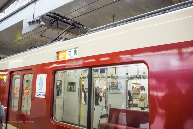 train bound for Nara | Nara Day Trip from Kyoto • The Petite Wanderess