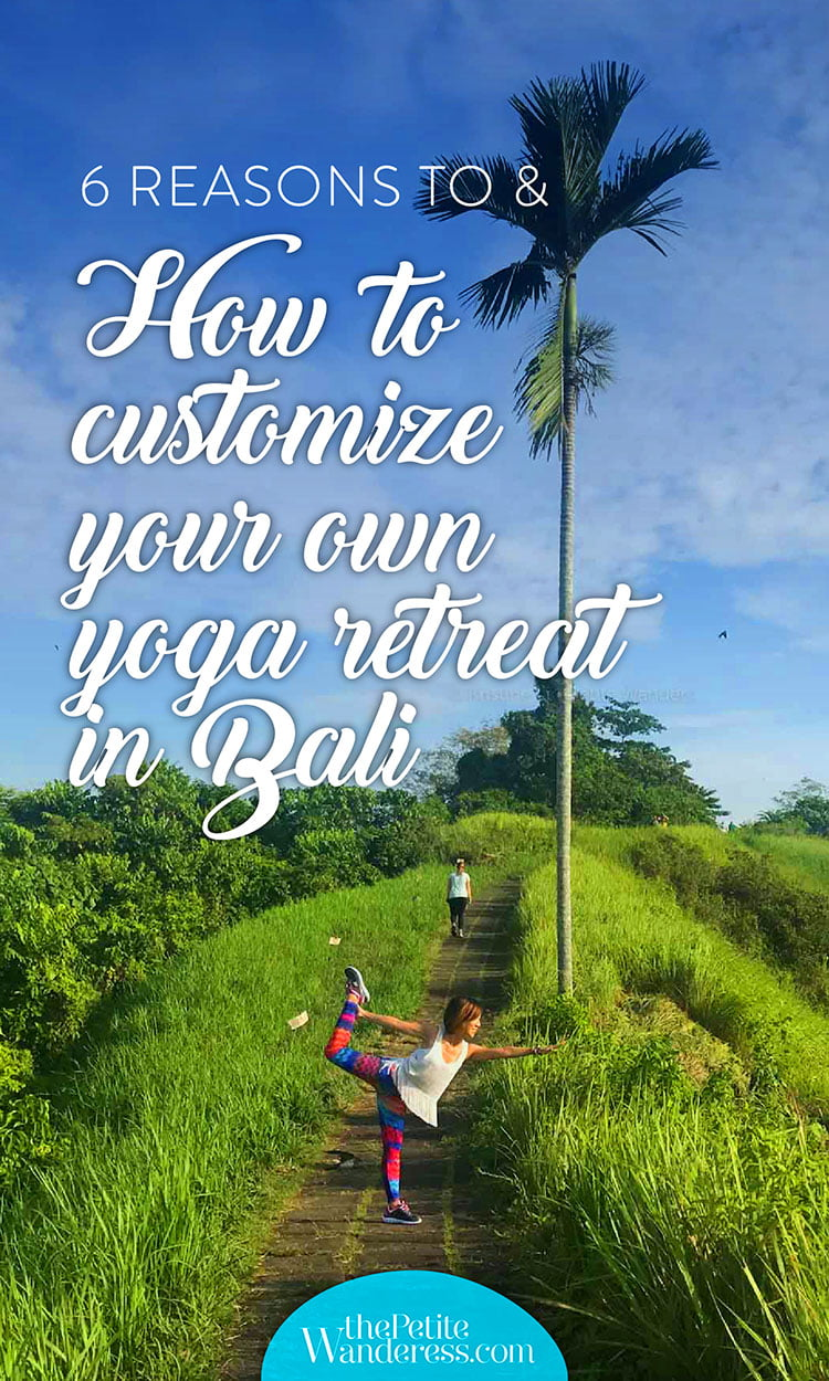 Pinterest image | How to DIY your own yoga retreat in Ubud, Bali • The Petite Wanderess