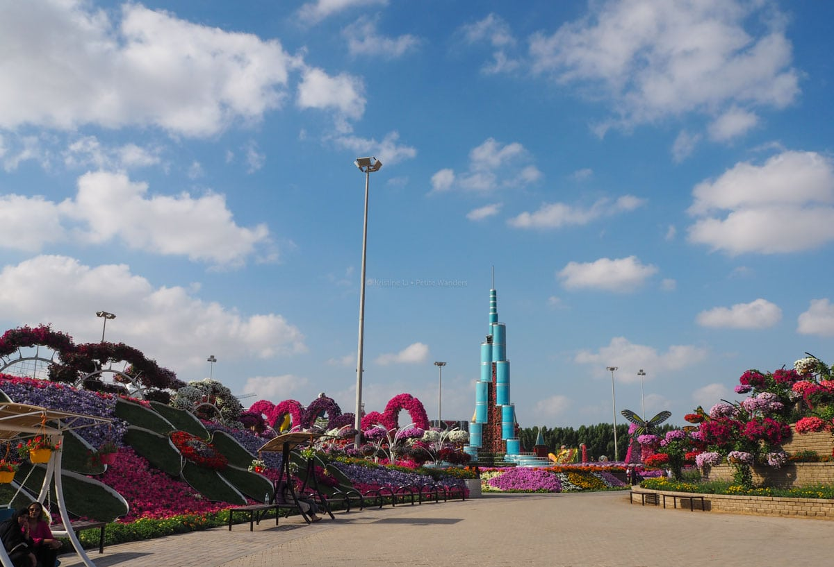 model of Burj Khalifa, Dubai Miracle Garden • The Petite Wanderess