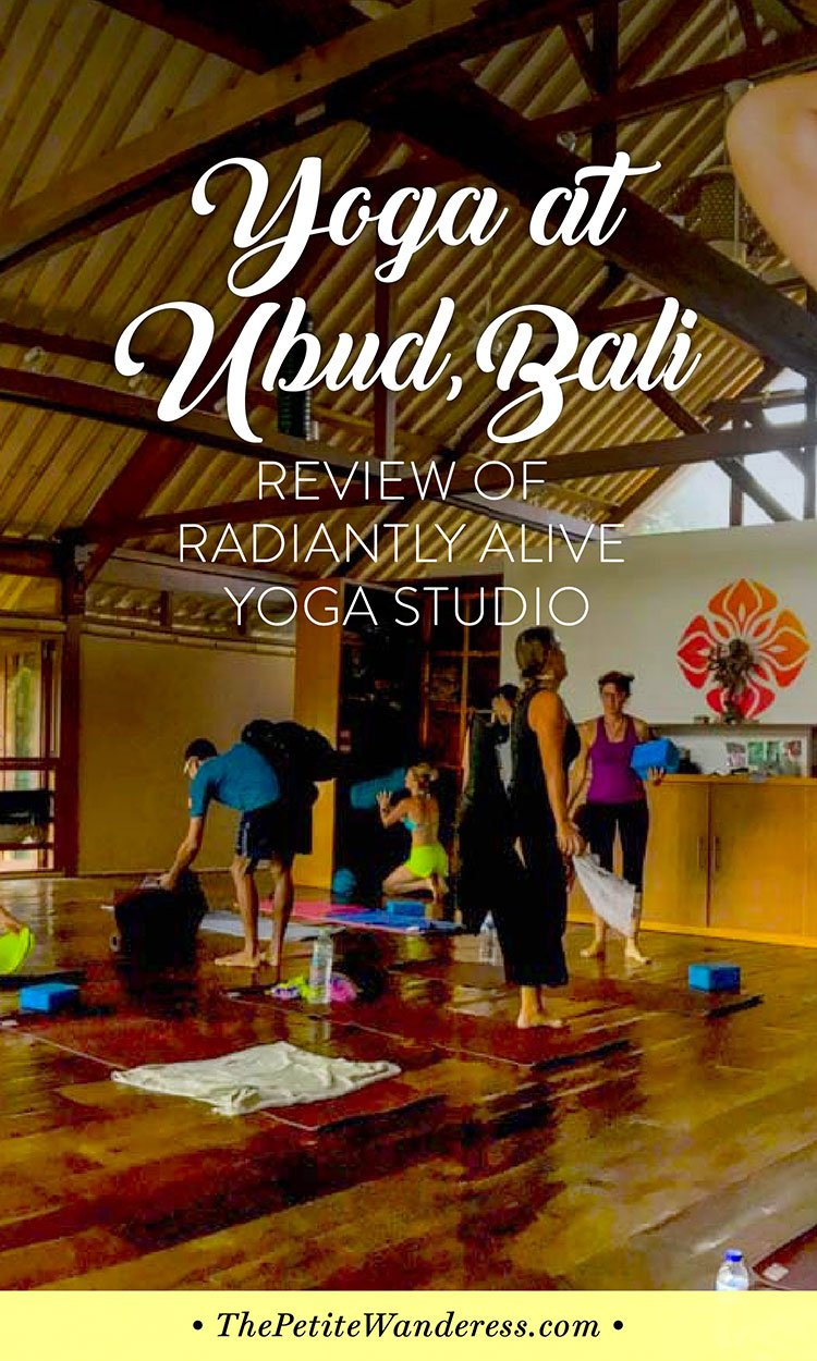 Radiantly Alive yoga studio review | The Petite Wanderess