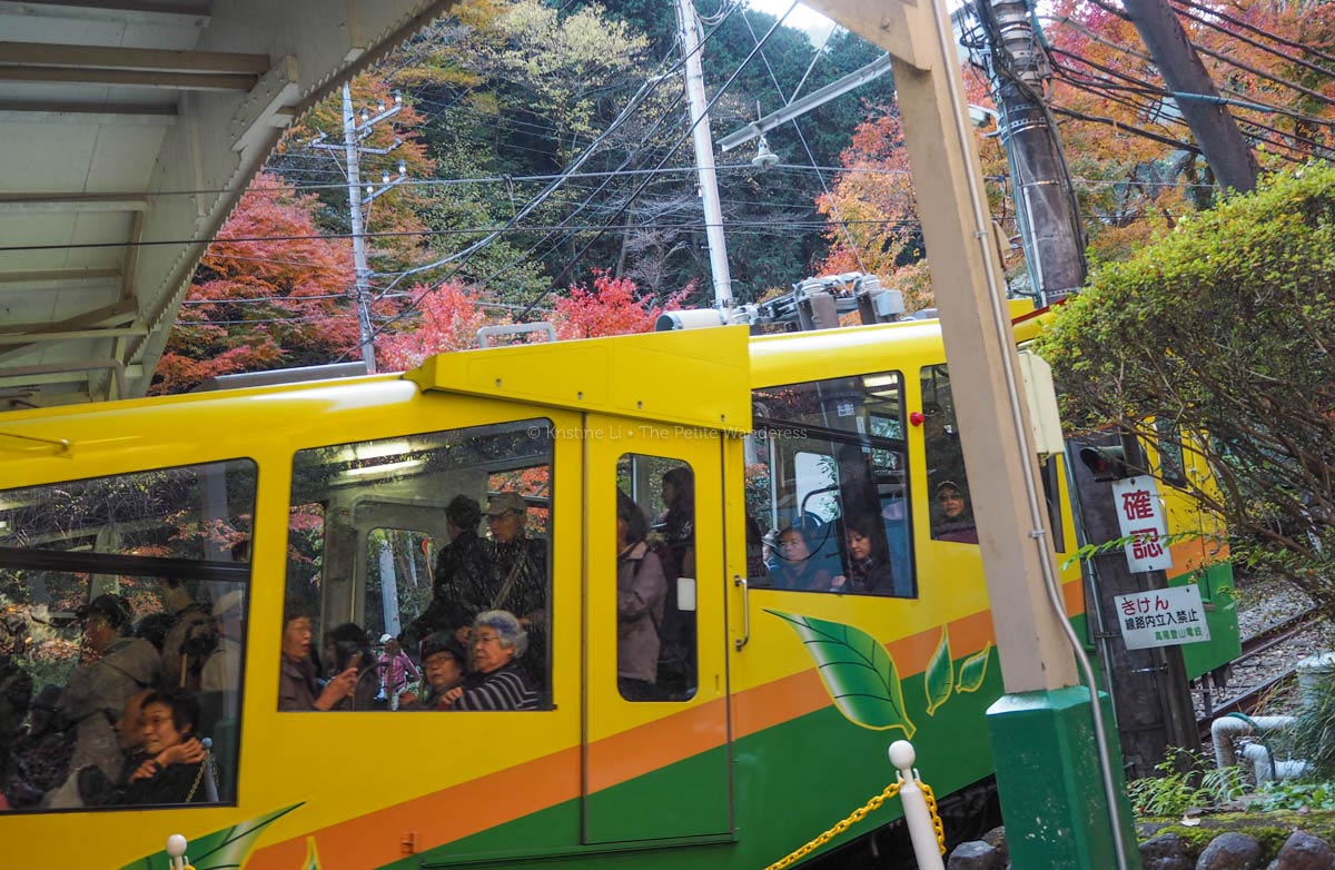 cable car at Mount Takao