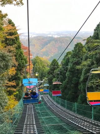 chairllft down Mount Takao