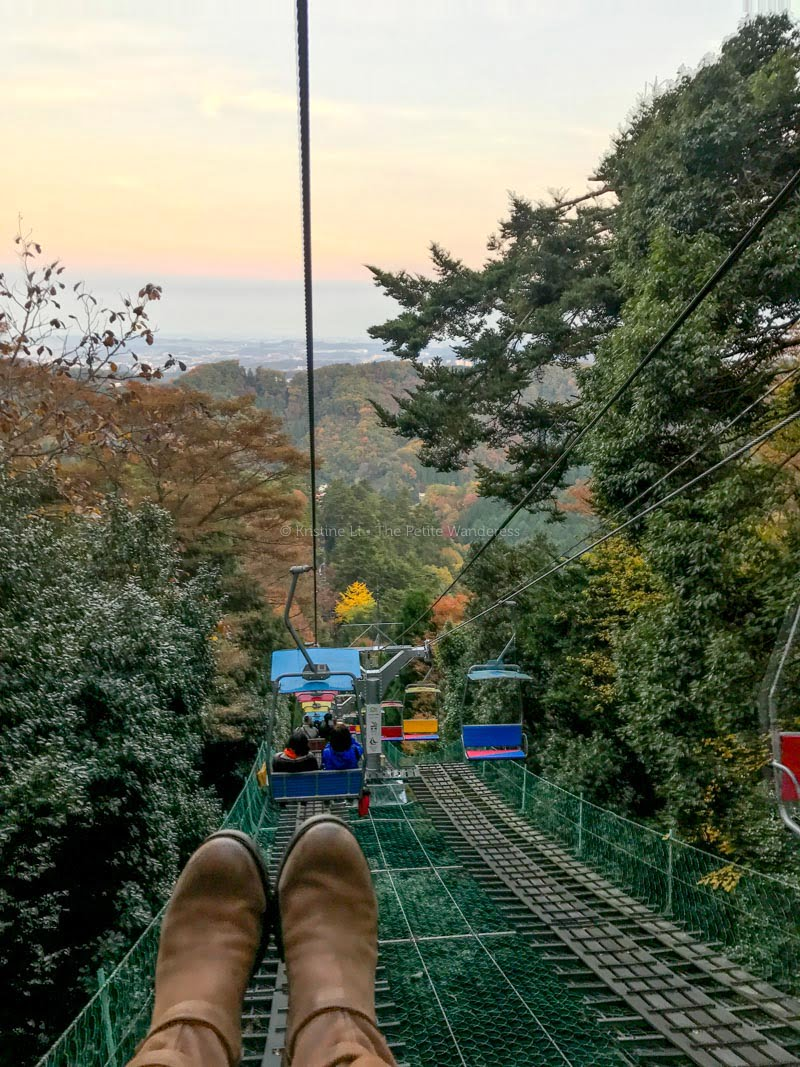 chairllft down Mount Takao