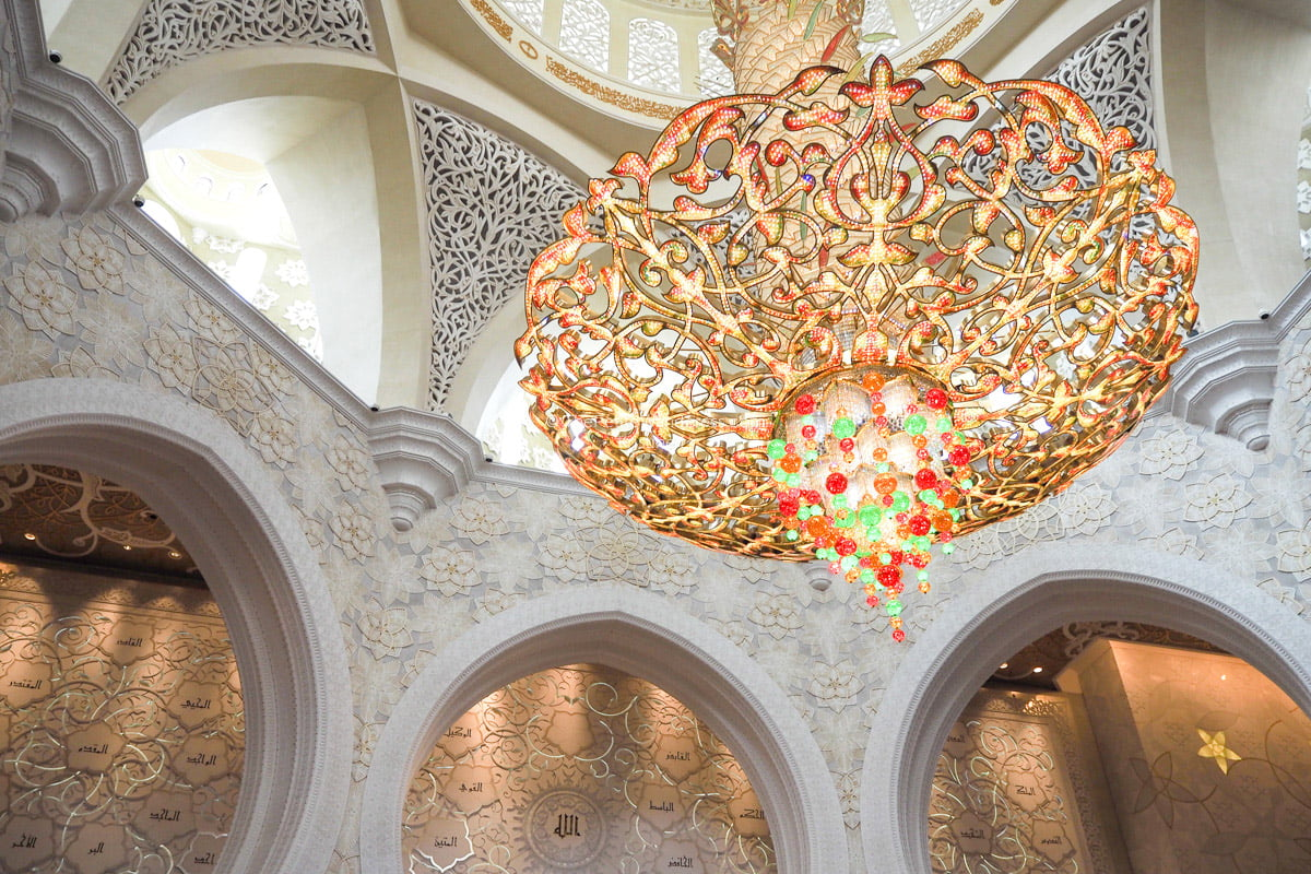 chandelier | Sheikh Zayed Grand Mosque, Abu Dhabi • The Petite Wanderess
