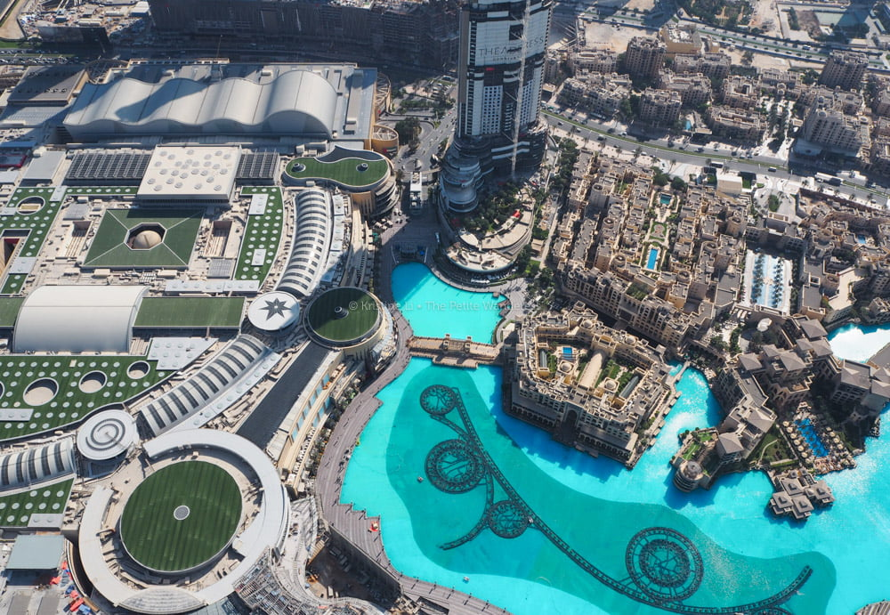 Dubai Fountains from above