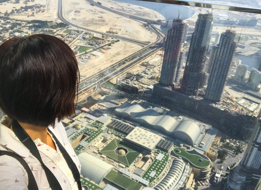 view from 125th level at Burj Khalifa, Dubai