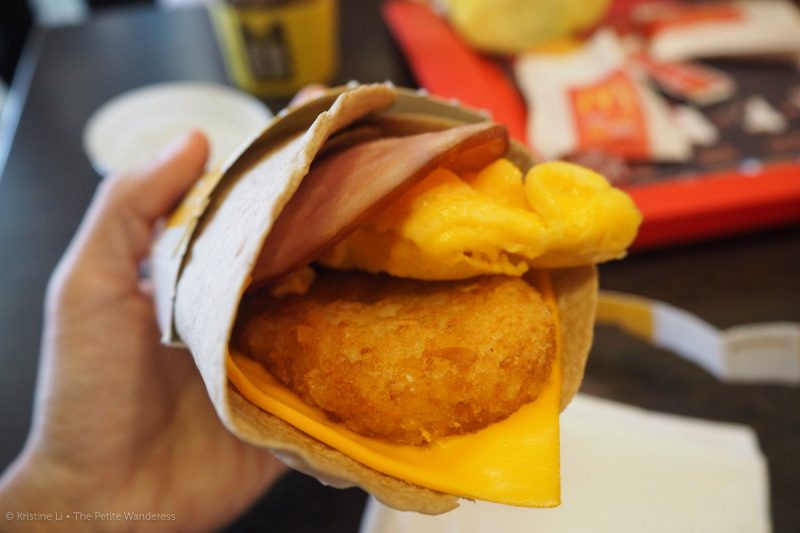 breakfast wrap at Mcdonald's