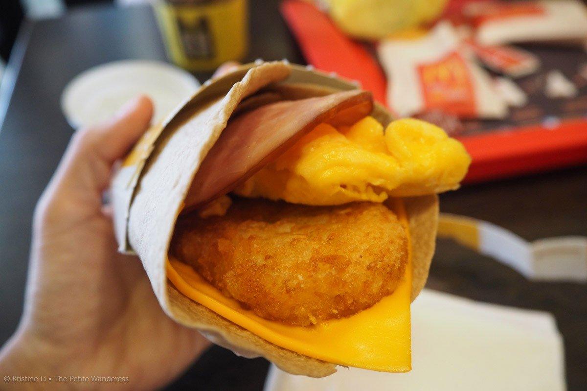 breakfast wrap at Mcdonald's