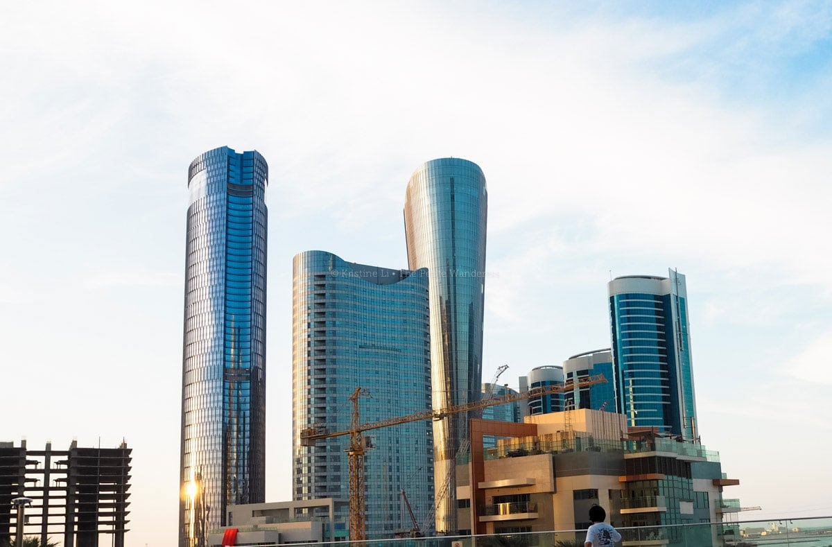 shiny buildings in Abu Dhabi • First impressions visiting Abu Dhabi