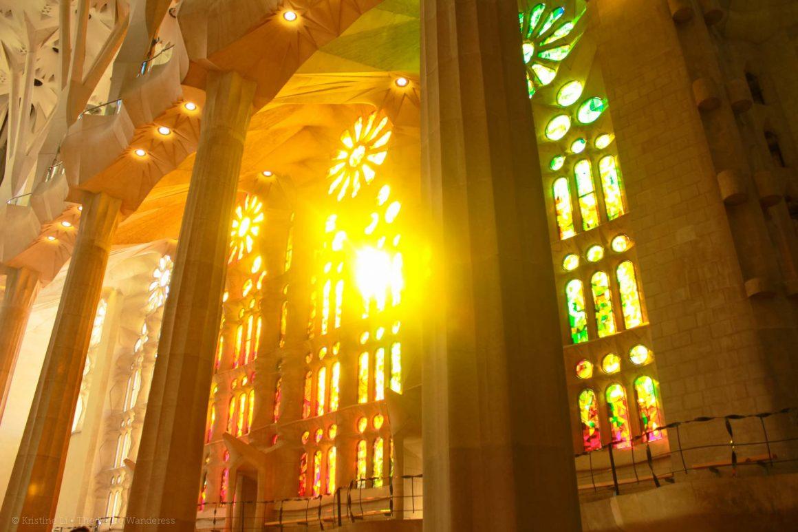 Sagrada Familia, inner temple