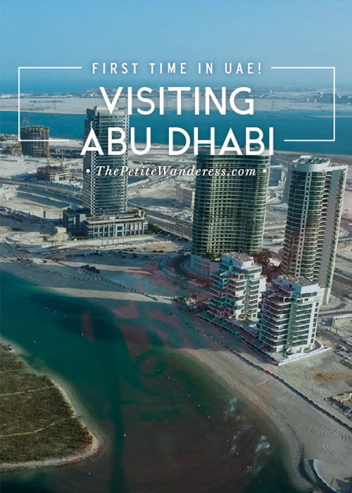 First impressions visiting Abu Dhabi