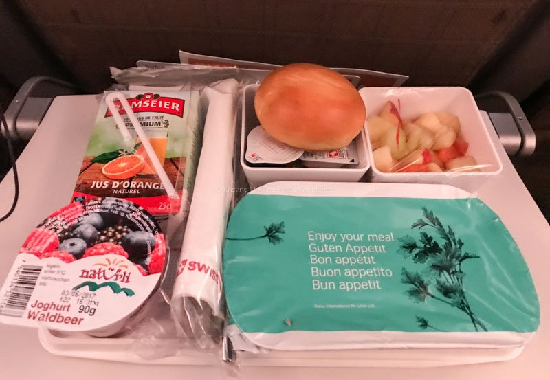 breakfast on board Swiss Airlines | Flying Swiss Airlines to Scandinavia • The Petite Wanderess