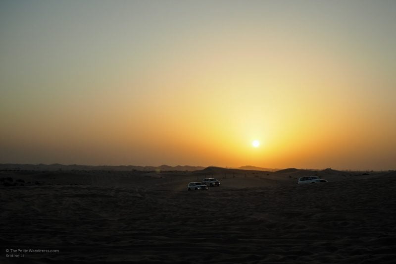 sunset | Abu Dhabi desert safari review • The Petite Wanderess