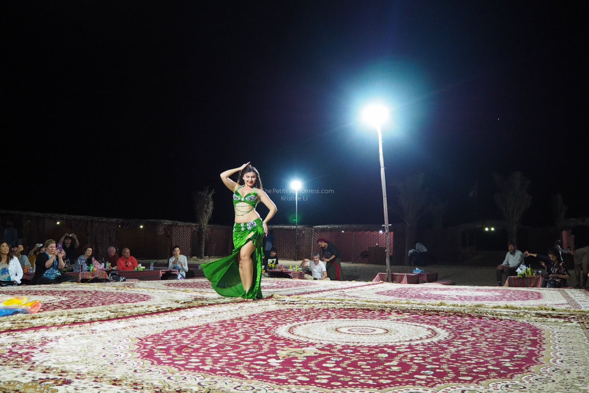 belly dancer | Abu Dhabi desert safari review • The Petite Wanderess