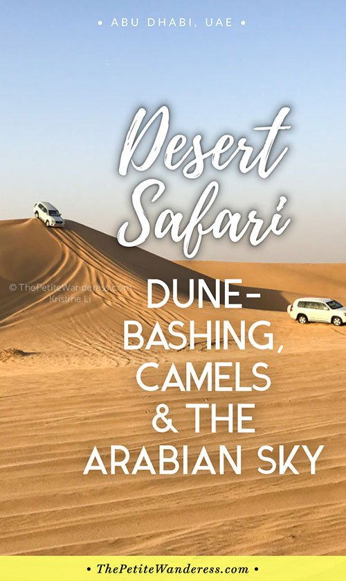 Abu Dhabi desert safari • The Petite Wanderess