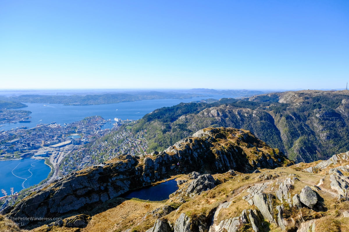 ziplining at the top of Mt Ulriken | Hiking Mt Ulriken in Bergen • The Petite Wanderess