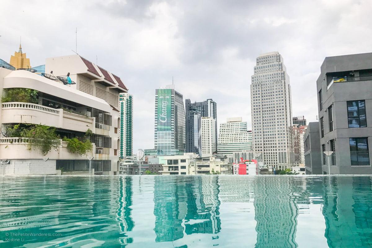 Bangkok Airbnb condo swimming pool | Bangkok Travelogue: Ten Days Solo in the Land of Smiles •The Petite Wanderess