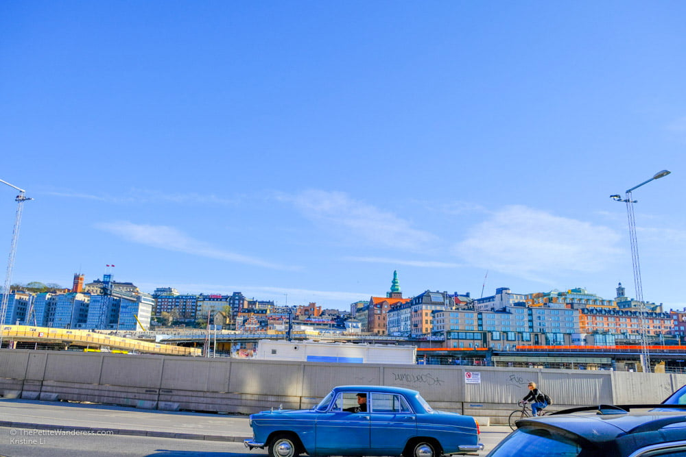 retro car at Slussen, Stockholm | Stockholm in 48 Hours • The Petite Wanderess