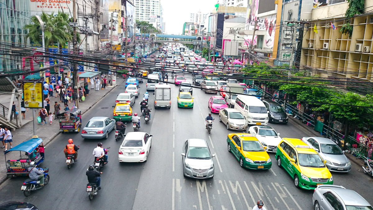 road in Bangkok | Bangkok Travel Tips for the Solo Female Traveller | The Petite Wanderess