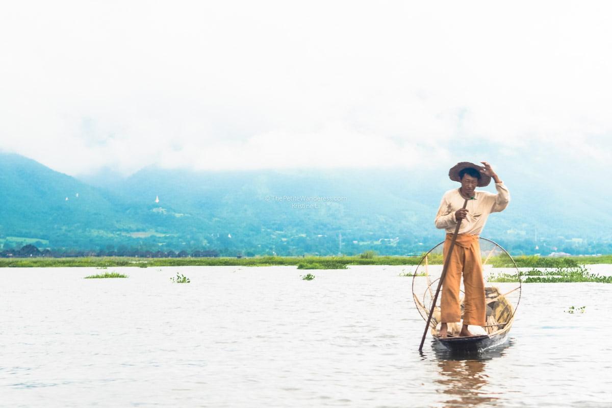 fisherman along Inle Lake, Myanmar • The Petite Wanderess