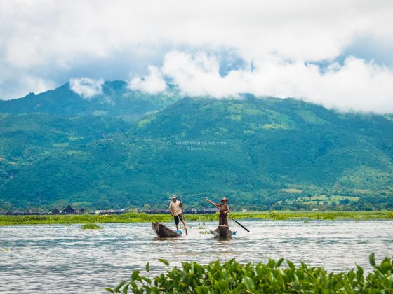 fisherman along Inle Lake, Myanmar • The Petite Wanderess