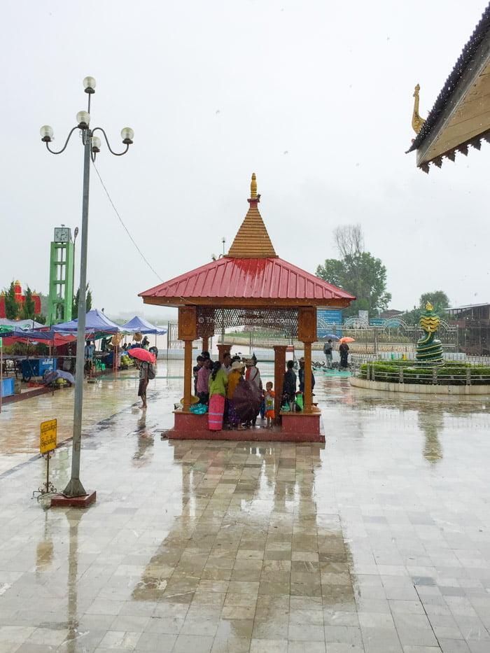 rain outside Hpaung Daw U Pagoda, Inle Lake, Myanmar • The Petite Wanderess