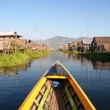 boat down Inle Lake, Myanmar • The Petite Wanderess