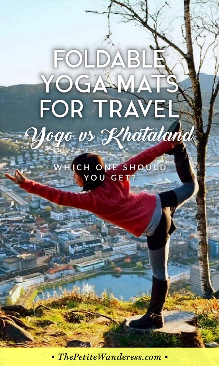 Practice on the road with a travel yoga mat? Yogo & Khataland's YoFoMat are both foldable travel mats – here's the pros & cons of both!