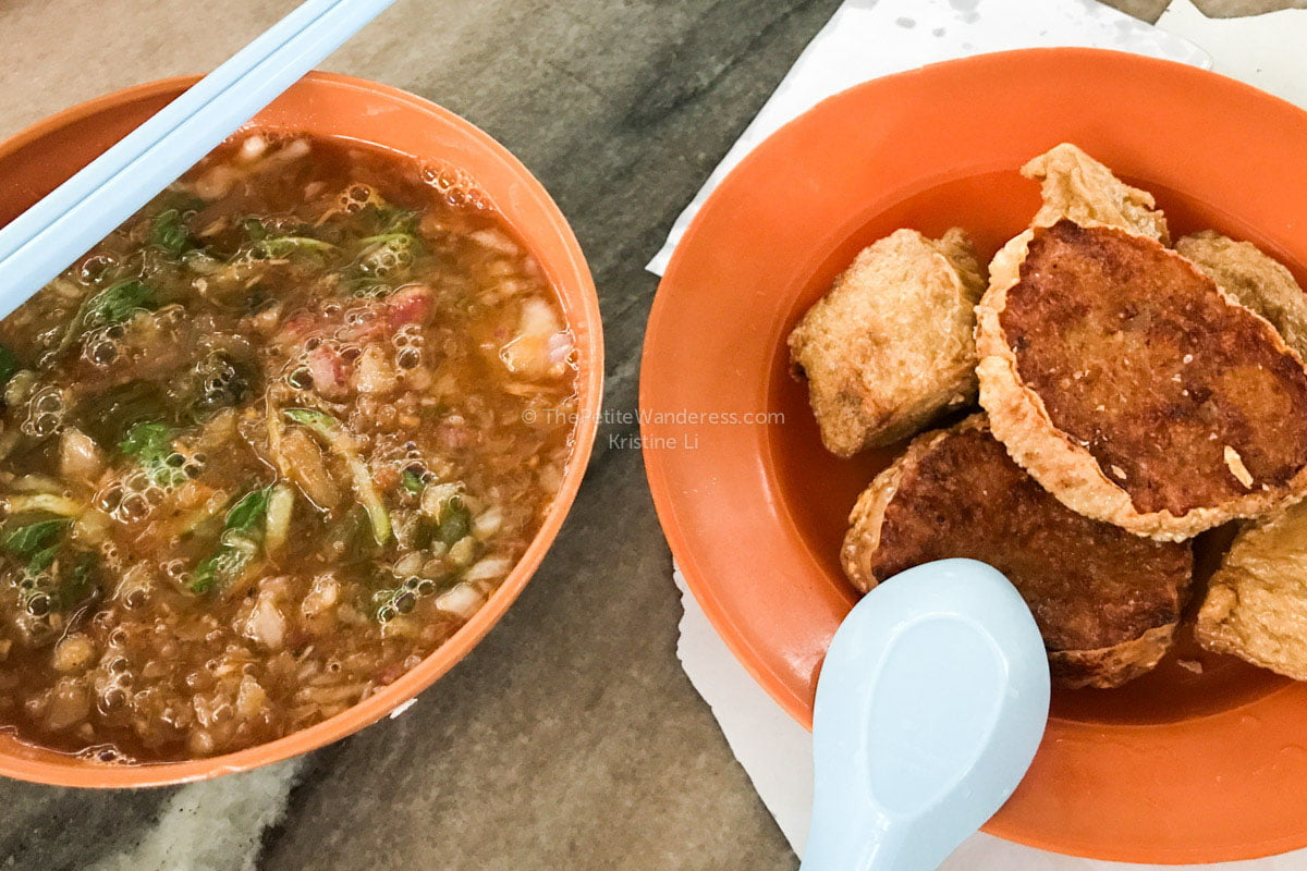 assam laksa & fried dough fritters at Big Tree Foot (Dai Shu Geok) | Why Ipoh (Malaysia) is worth a getaway trip • The Petite Wanderess