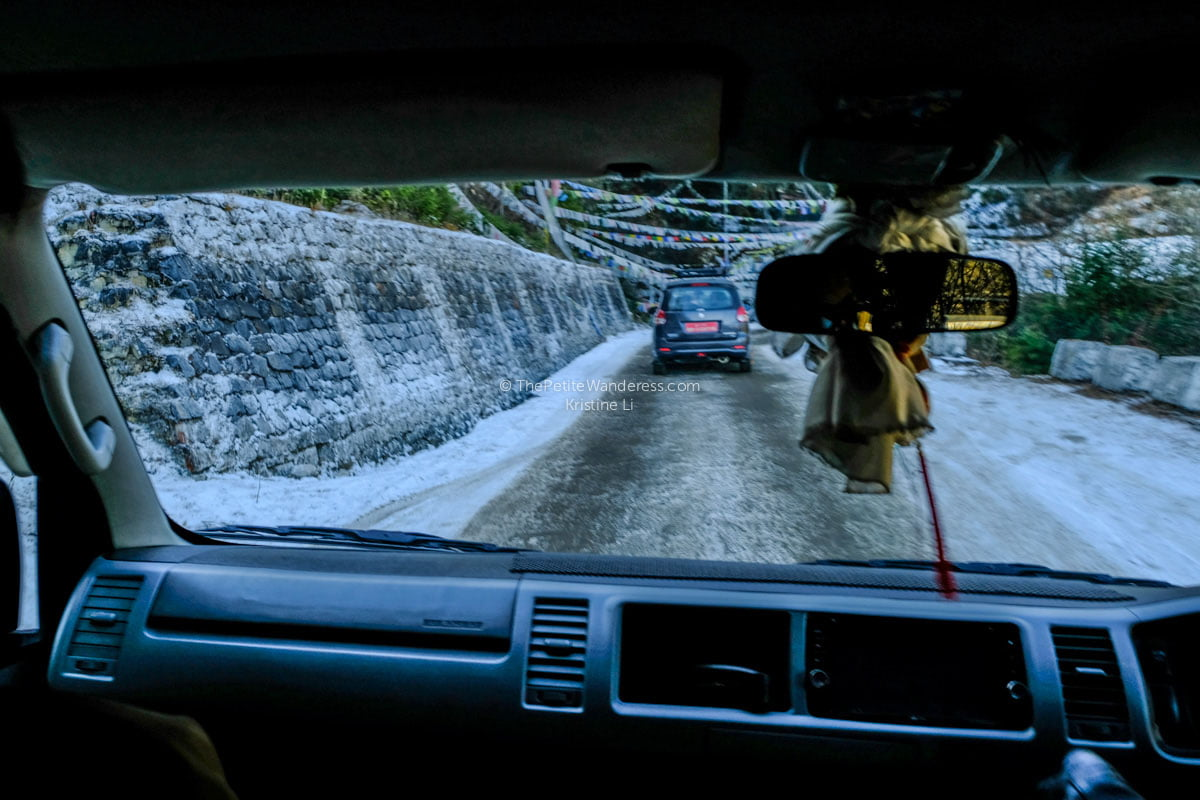 road with frost, to Chele La Pass, Bhutan | All Your First-World Questions about a Bhutan Trip, Answered! • The Petite Wanderess
