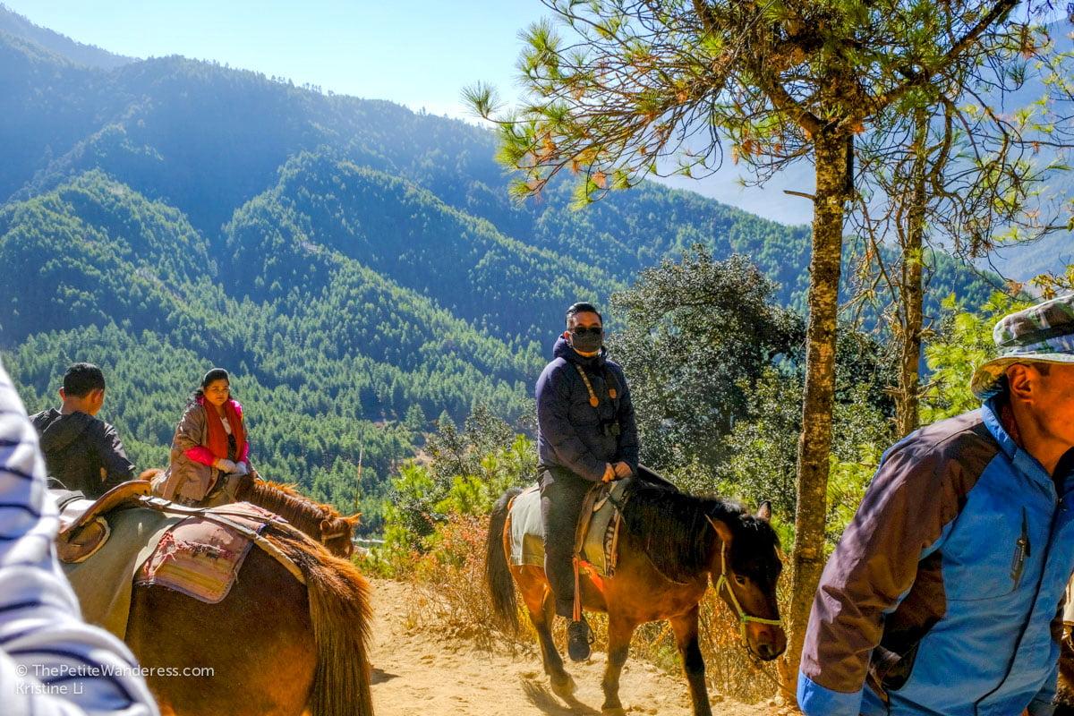 Horseback Hike to Tiger's Nest, Bhutan • The Petite Wanderess